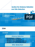 ZTE's Introduction for Antenna Selection and Site Selection