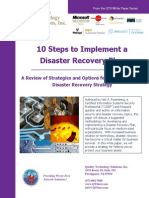 10 Steps to Implement a Disaster Recovery Plan - QTS White Paper
