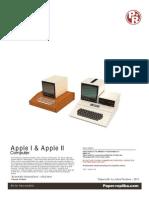 Apple I Apple II Papercraft