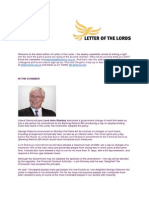 Letter of the Lords - November 28, 2013