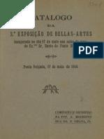 Catalogo da 2ª exposição de Bellas-Artes
