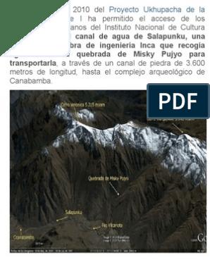 Almacenamiento Incaico Doc Irrigación Imperio Incaico