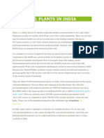 Medicinal Plants in India (Data)