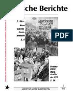 Politische Berichte Nr.5 / 1998