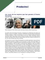 Las Voces de Las Mujeres Que Han Ganado El Premio Cervantes