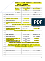 Calendar Activitati Lb. Engleza 2013 2014