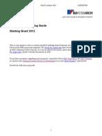 Fp7 20121108 Guia Escribir Starting Grant