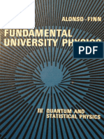 Fundamental University Physics, Volume 3 (Quantum and Statistical Physics) - Alonso, Finn