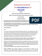QM0011–Principles & Philosophies of Quality Management
