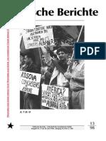 Politische Berichte Nr.13 / 1998