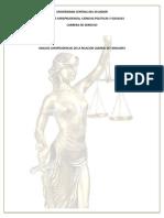 Analisis Jurisprudencial de La Relacion Laboral de Familiares
