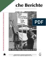 Politische Berichte Nr.17 / 1998