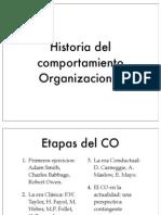 Historia Comportamiento Organizacional