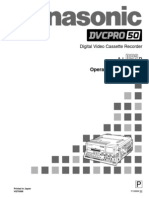 Panasonic AJ D92 Operation Manual