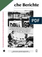 Politische Berichte Nr.26 / 1998