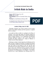 Marx, The British Rule in India