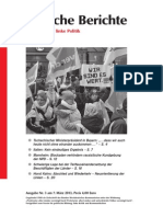 Politische Berichte Nr.03 / 2013