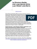 active directory diseñar implementar y que ejecuta active directory por alistair lowe norris - 5 estrellas reseña del libro.pdf