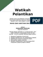 Contoh Watikah Perlantikan Pengawas Skki
