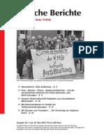 Politische Berichte Nr.05 / 2013