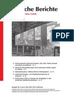 Politische Berichte Nr.06 / 2013