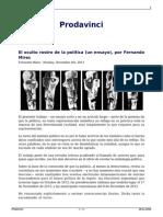 El Oculto Rostro de La Politica Un Ensayo Por Fernando Mires