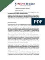 Documento oficial para el debate en la Asamblea Nacional