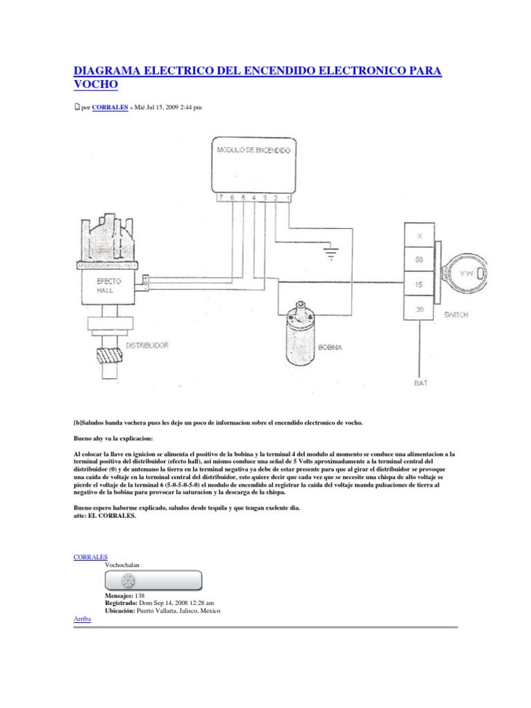 Diagrama Electrico Del Encendido Electronico Para Vocho 3 Ingenieria Electrica Cantidades Fisicas