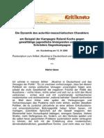 Heinz Gess - Die Dynamik des autoritär-masochistischen Charakters am Beispiel der Kampagne Roland Kochs gegen gewalttätige jugendliche Immigranten und Gerard Schröders Gegenkampagne