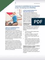 Ejercicio-Cómo aumentar la estabilidad de los músculos del tronco