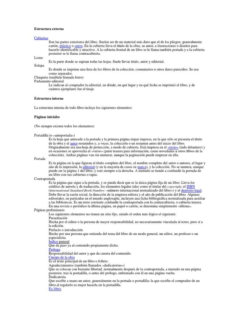 Estructura Externa Docx Libros Bibliografía