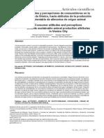 Actitudes y Percepciones de Consumidores en La CD de Mexico Hacia Atributos de La Produccion Sustentable de Alimentos de Origen Animal