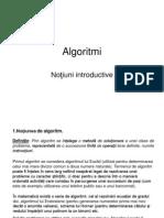 Algoritmi - Notiuni Introductive