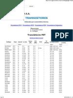 Transistores ordenados por características técnicas