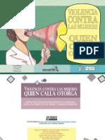 Violencia Contra Las Mujeres Quien Calla Otorga5