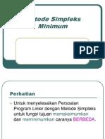Modul or - Simpleks Minimum