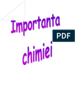 Importanta chimiei