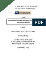 Investigacion de Operaciones - Programacion lineal aplicada a la Empresas - Calzados Castell