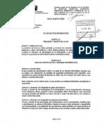 Proyecto de Ley de Delitos Informaticos