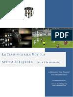 La Classifica alla Moviola - Serie A 2013/14 - 13a giornata