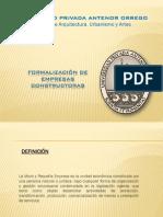 FORMALIZACION EMPRESAS CONSTRUCTORAS