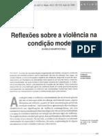 Reflexões sobre a violência na condição moderna