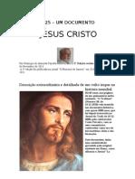 Crónica Nº 25 -Um documento histórico -  Jesus Cristo