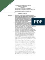 Peraturan Daerah Provinsi Lampung Nomor 1 Tahun 2010 Tentang Rencana Tata Ruang Wilayah Provinsi Lampung Tahun 2009 - 2029