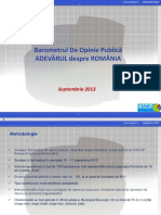 INSCOP Sep2013 Relatia Dintre Romani Si Maghiari