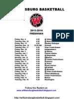 Williamsburg 9th Schedule 13-14