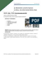 mantenimiento preventivo impresora