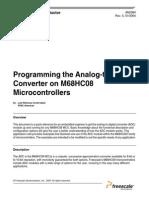 Programacion ADC Freescale(M68HC08)