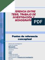 Diferencia Tesis  monografia.ppt