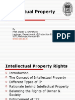 intellectual property rights by DV Shirbhate